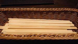「竹の庵」だけあって竹の割りばし