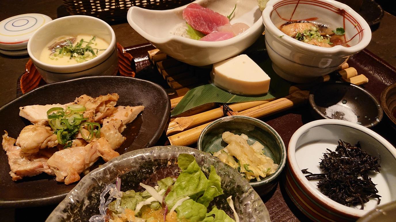 竹の庵膳のアップ